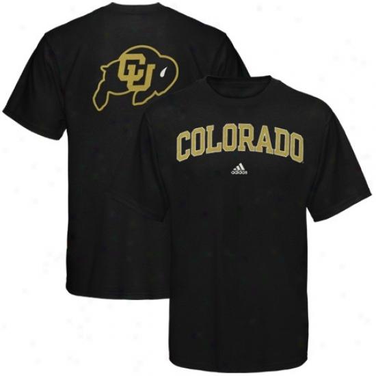 Colorado Buffaloes Tee : Adidas Colorado Buffaloes Black Relentless Tee