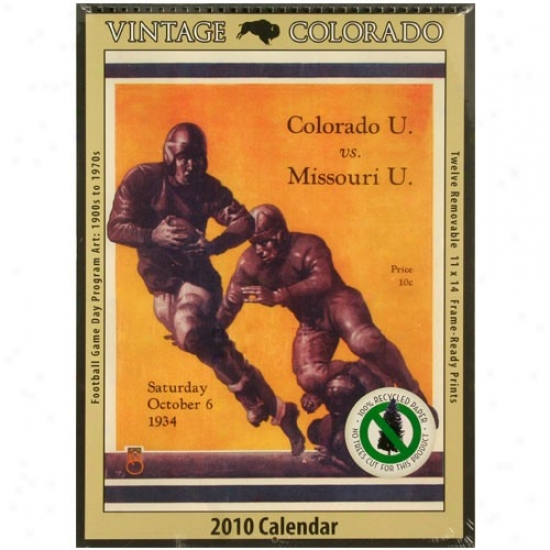 Colorado Buffaloes Vintage 2010 Football Program Calendar