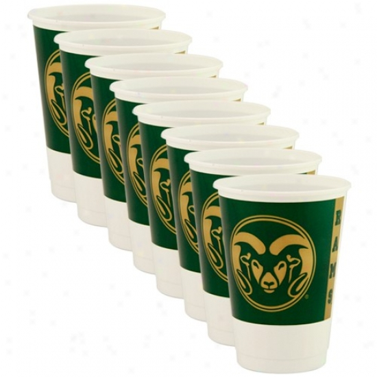 Colorado State Rams 8-pack Plastic Cups