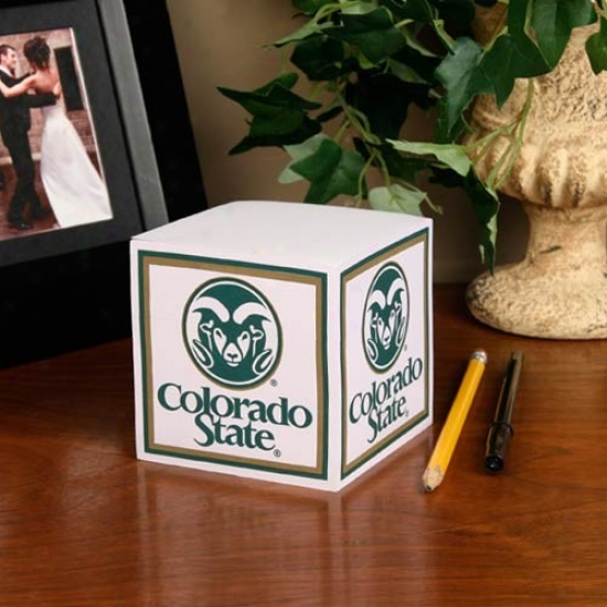 Colorado State Rams Ncaa Cube Notepad