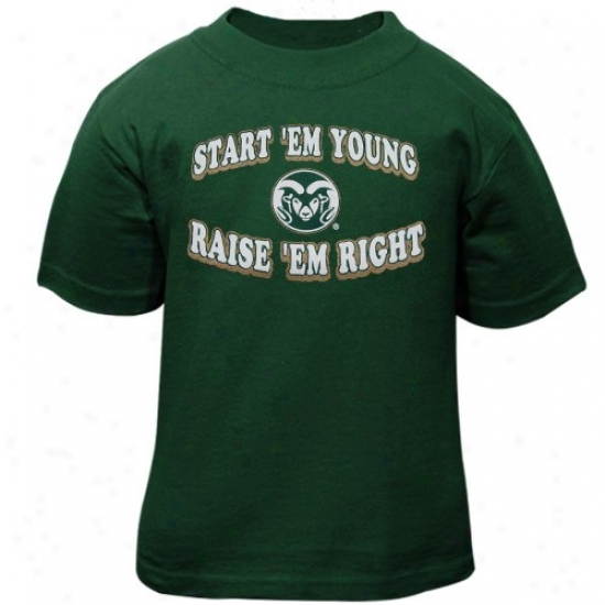 Colorado State Rams Ter : Colorado State Rams Green Infant Start 'em Young Tee