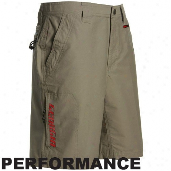 Columbia Georgia Bulldogs Khaki Single Track Performance Cargo Shorts