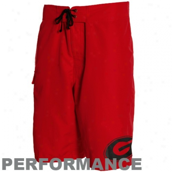 Columbia Georgia Bulldogs Red Angler Champion Performance Boardshort