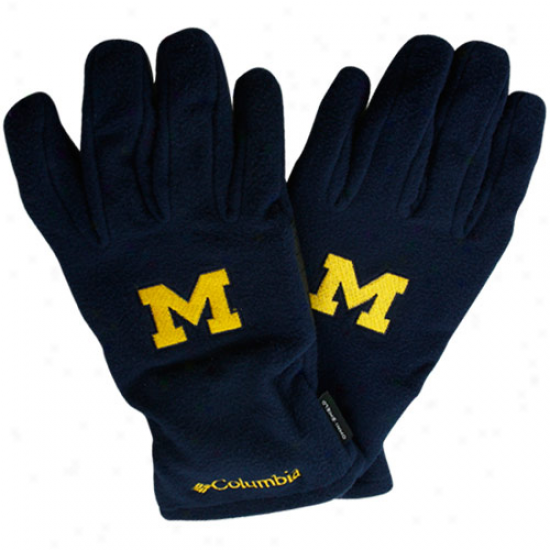 Columbia Michigan Wolverinnes Black High Five Fleece Glove