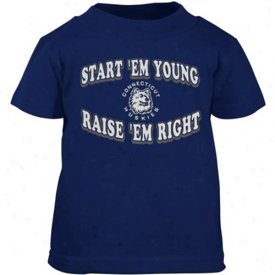 Connecticut Huskies Atrire: Connecticut Huskies (uconn) Navy Pedantic  Toddler Start 'em Young T-shirt