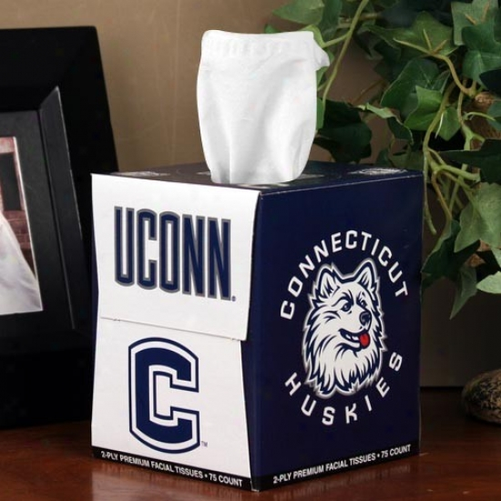 Connecticut Huskies (uconn) Box Of Sports Tissues