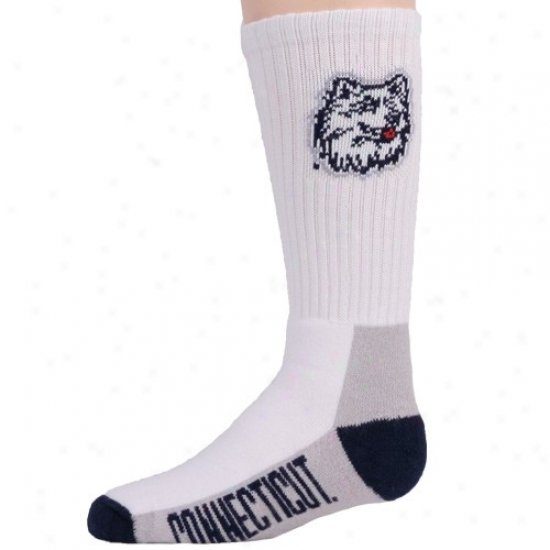 Connecticut Huskies (uconn) Youth Tri-coior Team Loto Tall Socks