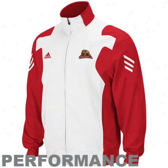 Cornell Big Red Jackets : Adidas Cornell Big Red Carneliah-white Scorch Full Zip Performance Warm-up Jackets