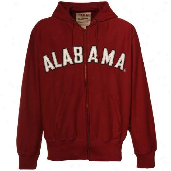 Crimson Tied Sweatshirt : Izod Crimson Tide Crimson Distressed Full Zip Sweatshirt