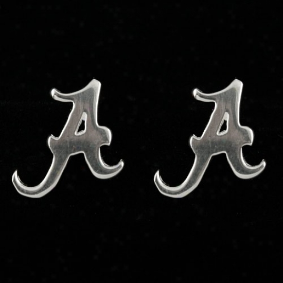 Dayna U Alabama Crimson Tide Sterlint Silver Post Earrings