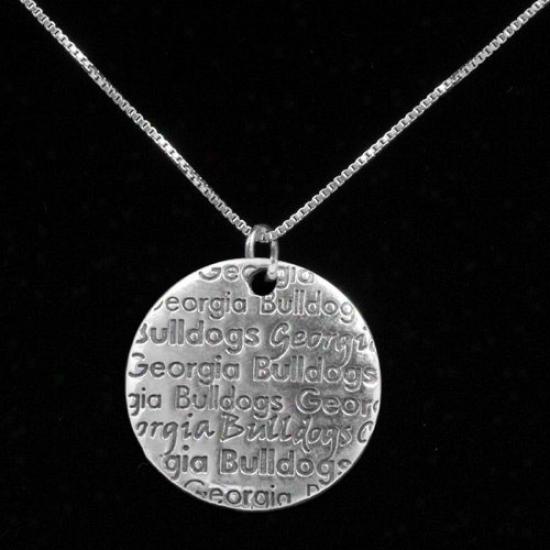 Dayna U Georgia Bulldogs Sterling Silver Infinity Necklace