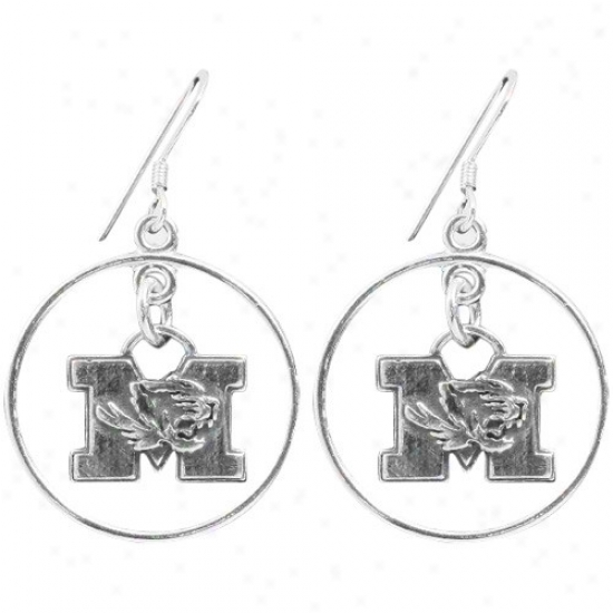 Dayna U Missouri Tigers Sterling Gentle Open Drop Earrings