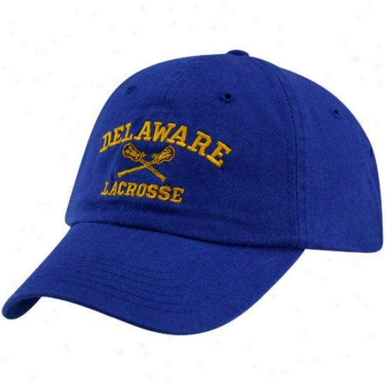 Delaware Fightin' Blue Hens Gear: Top Of The World Delaware Fightin' Blue Hens Royal Blue Lacrosse Sport Drop Adjustable Hat