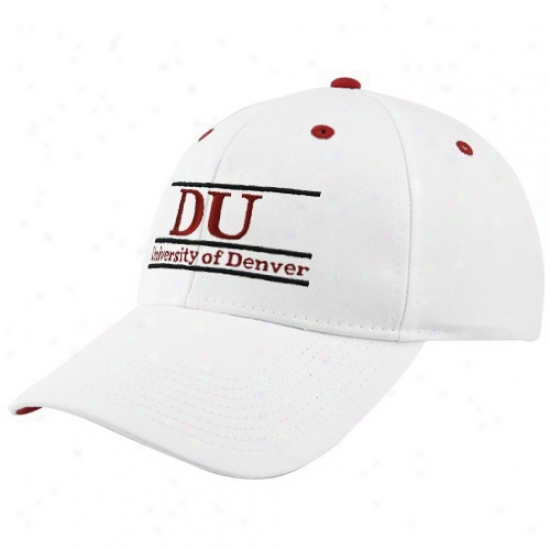 Denver Pioneers Cap : The Game Denver University Pioneers Pale Three Bar Classic Adjustable Cap