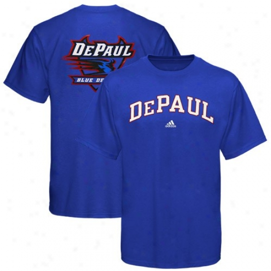 Depaul Blue Demons Tshirts : Adidas Depaul Blue Demons Royal Blue Relentless Tshirts