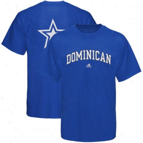 Dominican Stars Tee : Adidas Predicant Stars Royal Blue Relentless Tee