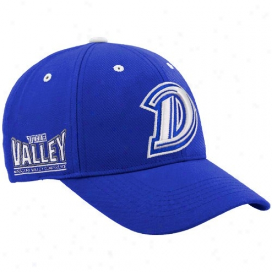 Drake Bulidogs Gear: Top Of The World Drake Bulldoge Royal Blue Triple Conference Adjustable Hat