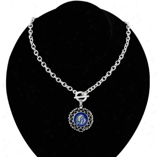 Drake Bulldogs Full Heart Art Nouveau-style Toggle Necklace