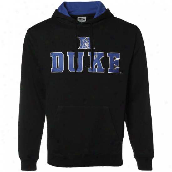 Duke Blue Devil Fleece : Duke Pedantic  Devil Black Classic Twill Fleece