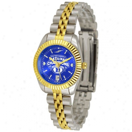 Duke Blue Devil Watches : Duke Blue Devil 2010 Ncaa Division I Men's Basketball National Champions Ladies 2-tone Executive Anochrome Watches