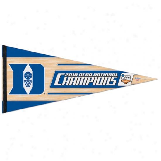 Duke Blue Devils 2010 Ncaa Division I Men's Basketball National Champions 17'' X 40'' Premium Felt Pennant