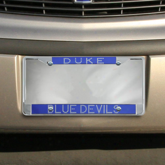 Duke Blue Devils Duke Blue Bling Chrome License Plate Frame