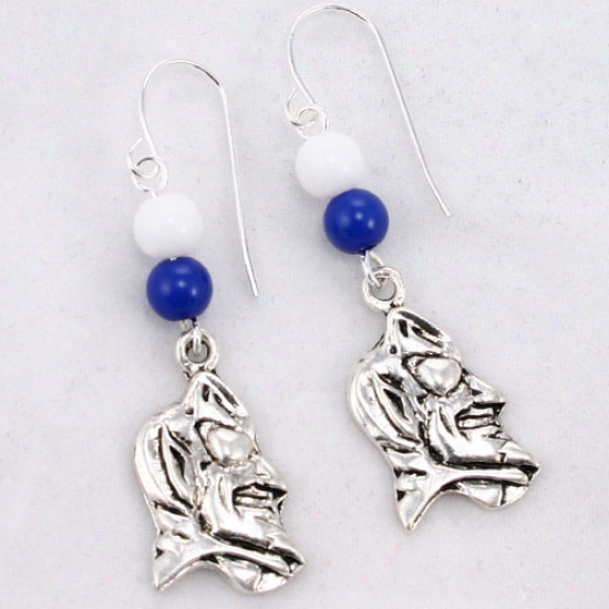 Duke Blue Deviks Logo Earrings