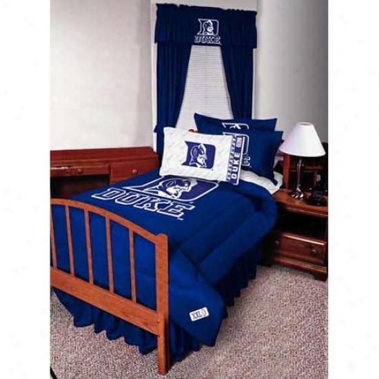 Duke Blue Devils Doubled Size Bed Skirt
