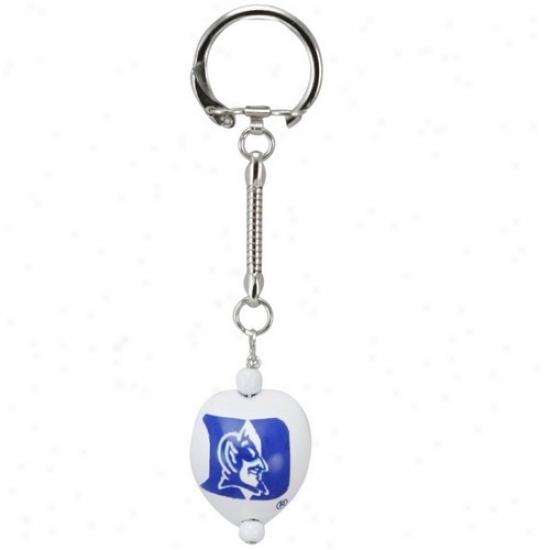 Duke Blue Devils White Kukui Keychain