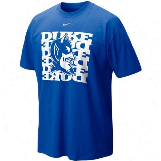Duke University Attkre: Nike Duke University Duke Blue Undercover Logo T-shirt