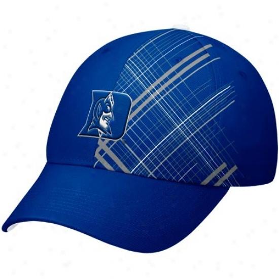 Duke Unoversity Hats : Nime Duke University Duke Blue Rad Plaid Swoosh Flex Hats
