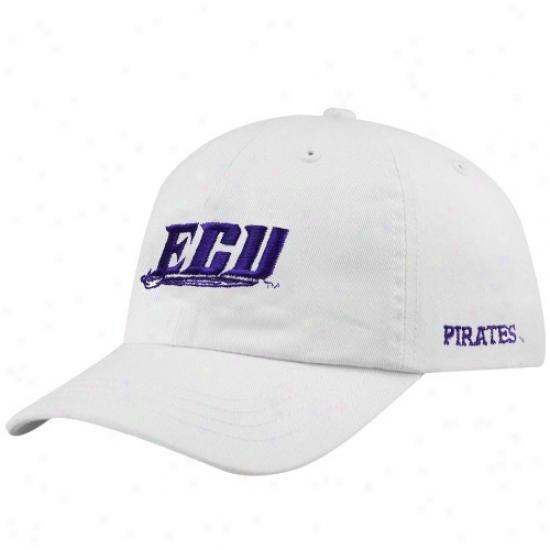 East Carolina Piraates Hat : East Carolina Pirates Youth White Basic Logo Adjustable Slouch Hat