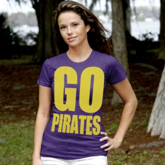 East Carolina Pirates Tshirt : My U East Carolina Pirates Ladies Purple Team Cheer Tshirt