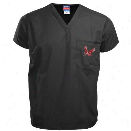 Eastern Washinton Eagles Shirts : Eastern Washington Eagles Black Scrub Top