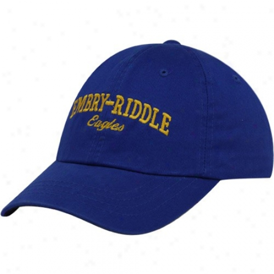 Embry-riddle Eaglles Hat : Top Of The World Embry-riddle Eagles Royal Blue Batters Up Adjustable Hat