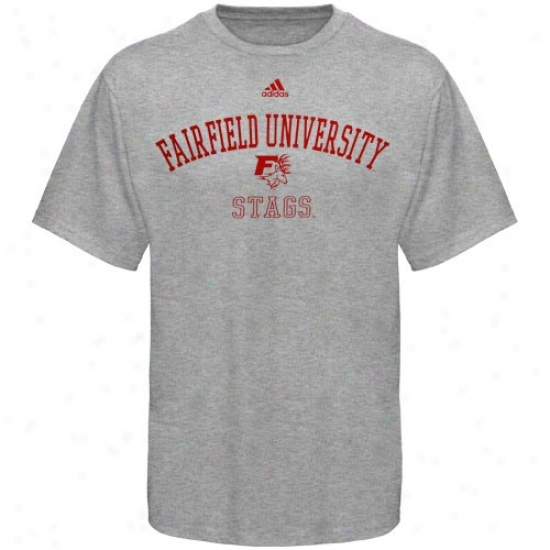 Fairfield Stags Tshirt : Adidas Fairfield Stags Ash Practice Tshirt