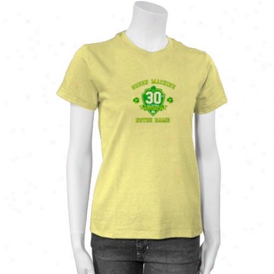 Contention Irish Shirts : Adidas Fighting Irish Gold Ladies 30th Anniversary Sihrts
