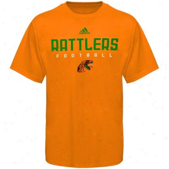 Florida A&m Rattlers Shirts : Adidas Florida A&m Rattlers Orange Sidelije Shirts