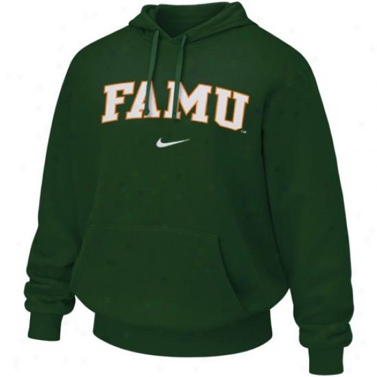 Florida A&m Rattlers Sweat Shirts : Nike Florida A&m Rattlers Green Cpllege Classic Sweat Snirts