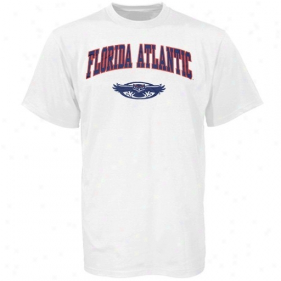 Florida Atlantic Univesrity Owls T Shirt : Florida Atlantic University Owls Youth White Bare Essentials T Shirt