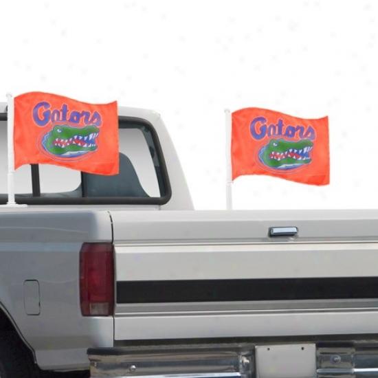 Florida Gator Flags : Florida Gator Orange 2-pack Team Logo Truck Flags