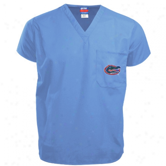 Florida Gator Shirts : Florida Gator Light Blue Scrub Top