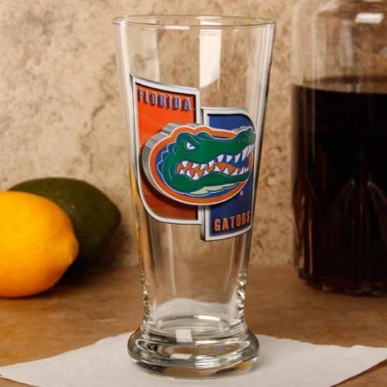 Florida Gators 16.5 Oz. Enhanced Hi-def Flared Pilsner Glass