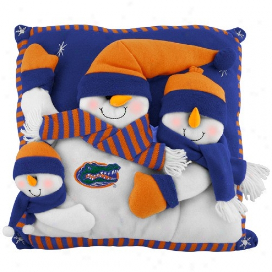 Florida Gators 18-inch Snowman Family Pillow