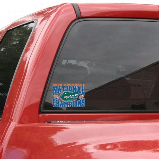 """florida Gators 2006 Bcs National Chamions 9"""" X 5"""" Arched Champions Decal"""