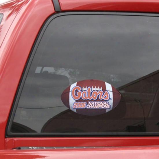 Florida Gators 2006 Bcs National Champions Medium Football Decal