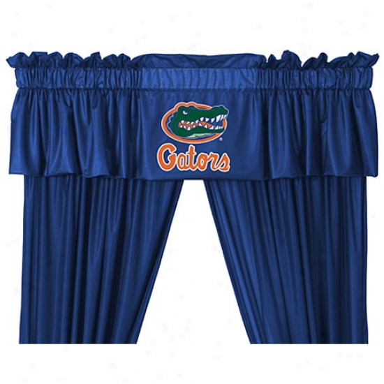 """florida Gators 88""""x14"""" Window Valance"""
