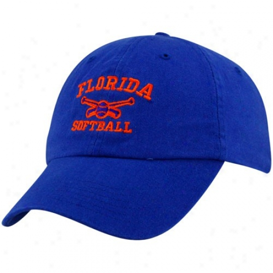 Florida Gators Gear: Top Of The World Florida Gators Royal Blue Softball Sport Drop Adjustable Hat