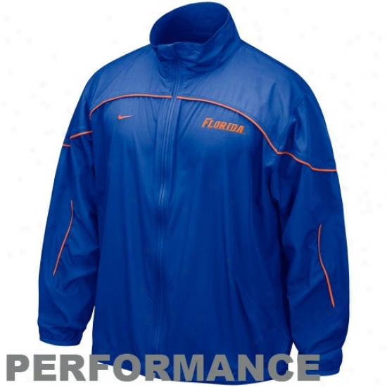 Florida Gators Jacket : Nike Florida Gators Royal Blue Run Blitz Full Zip Performance Jacket