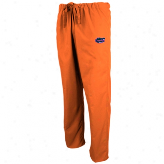 Florida Gators Orange Scrub Pants